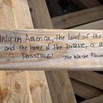 Messages of goodwill included on trusses at The Immokalee Foundation's inaugural Career Pathways Learning Lab home